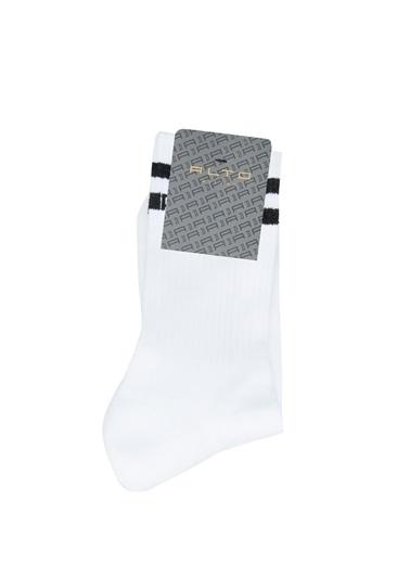 Alto Socks Alto Socks   Çizgili Erkek Çorap 101643920 Beyaz